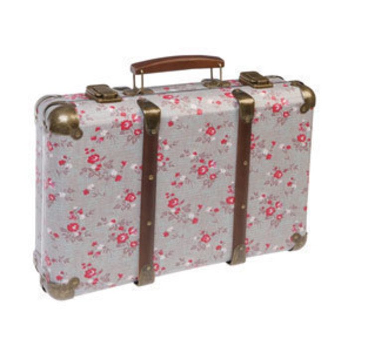 Vintage Floral Suitcase- Florence Ditsy Print: rustic  by ihearthomes, Rustic