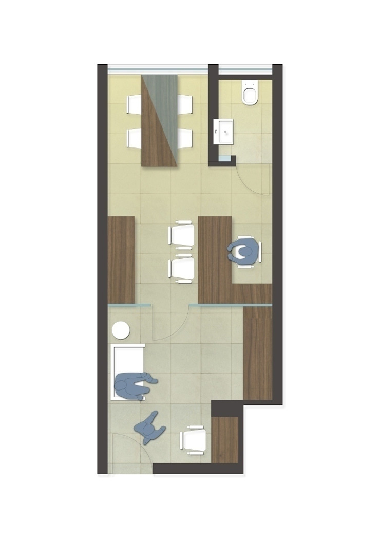layout plan by mold design studio Modern