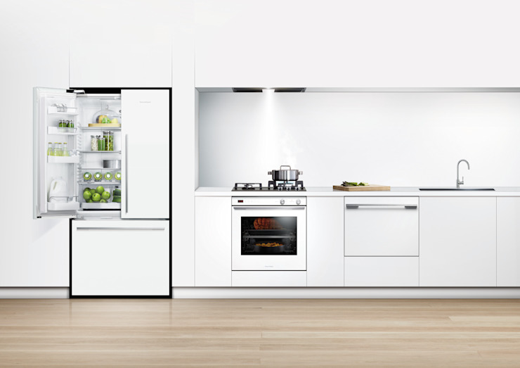 New Flat white range of fridge freezers Fisher Paykel Appliances Ltd KücheAccessoires und Textilien