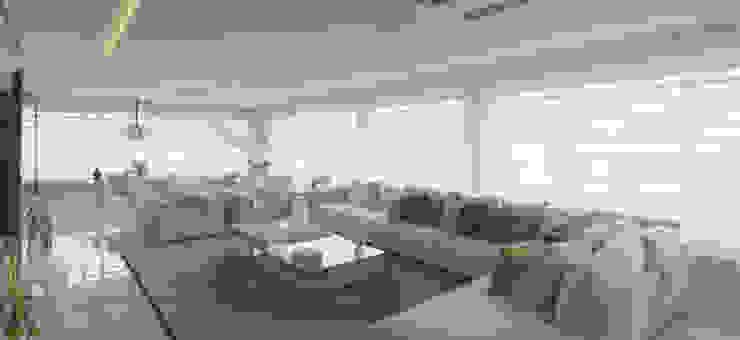 ESTAR EM LUXO Motta Viegas arquitetura + design Salas de estar modernas Madeira Amarelo
