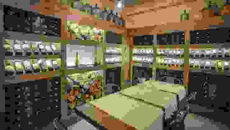 Cava Don Alonso Grillados Argentinos Gastronomía de estilo rústico de Cohen - Reig Arquitectura & Interiorismo Rústico