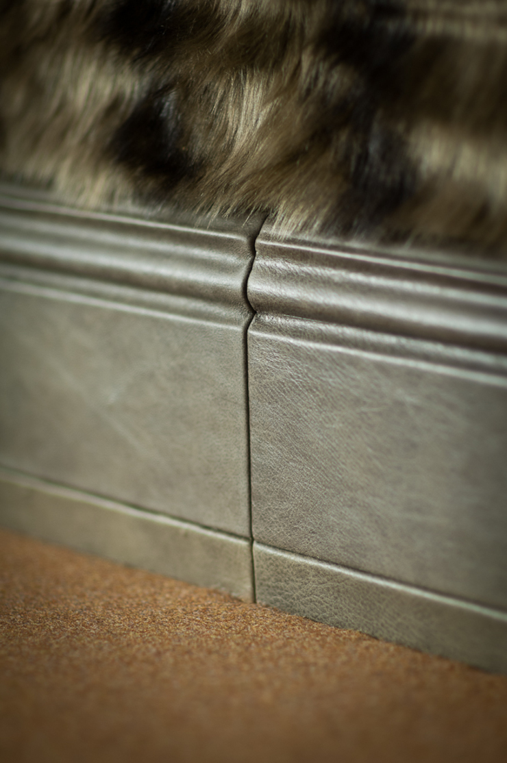 Skirting boards covered in leather : modern  by Mille Couleurs London, Modern