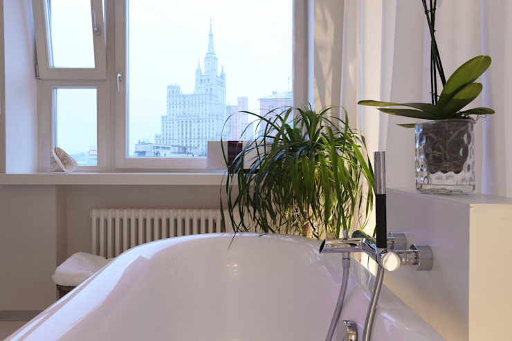 Высотка. Ванная комната в скандинавском стиле от Double Room Скандинавский