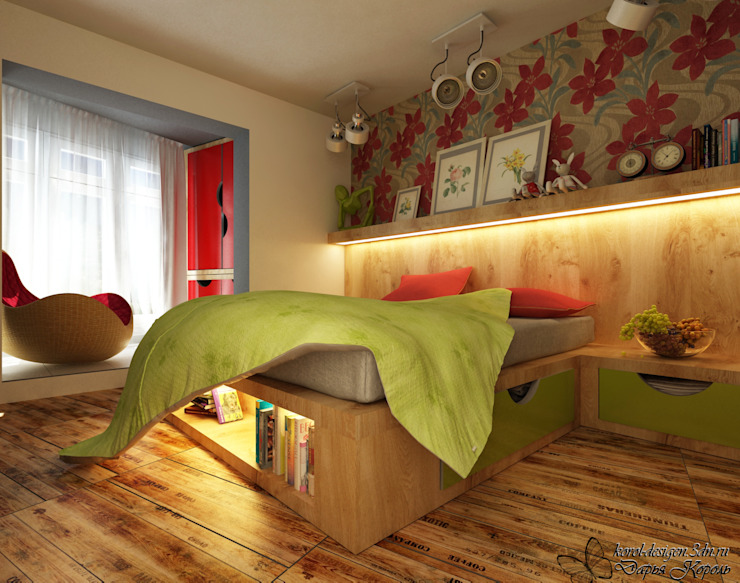 Apartment A brave people Спальня в стиле лофт от Your royal design Лофт