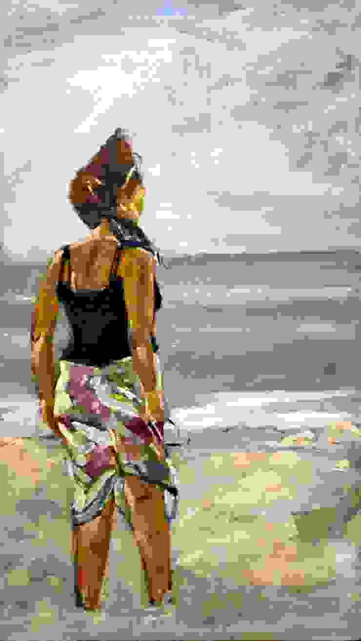 lady on the beach van leida blom Klassiek