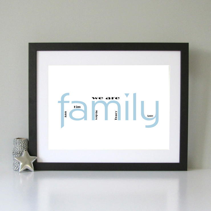 Personalised family print: classic  by Always Sparkle, Classic
