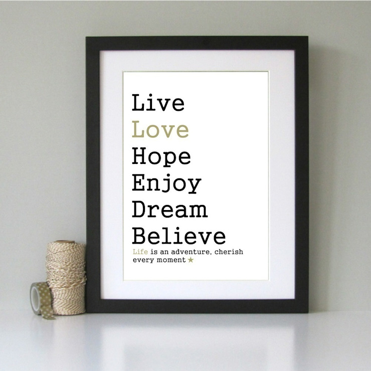 Inspirational wall art: minimalist  by Always Sparkle, Minimalist