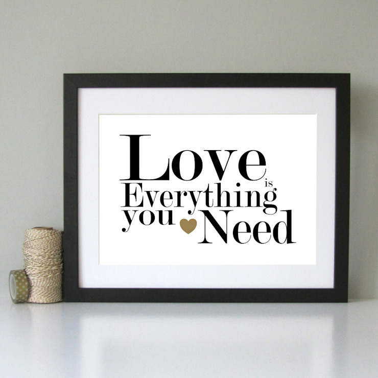 Love is.. romantic art print: modern  by Always Sparkle, Modern