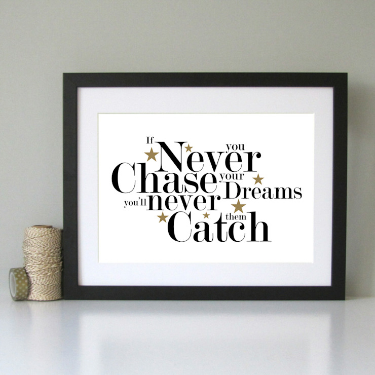 Chase your dreams inspirational art print: modern  by Always Sparkle, Modern