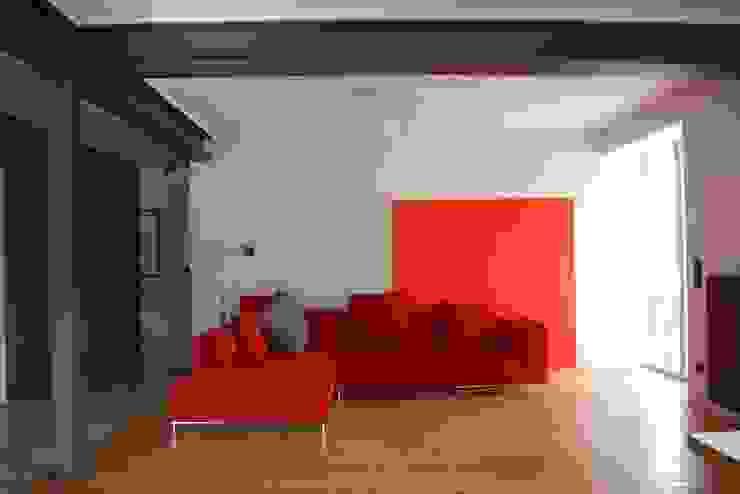 schwarz Haus Minimalistische Wohnzimmer von schwarzID Minimalistisch
