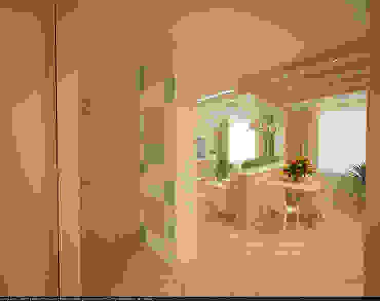 Квартира 70 кв.м. в ЖК <q>Оазис</q> Коридор, прихожая и лестница в стиле минимализм от Студия дизайна Виктории Силаевой Минимализм