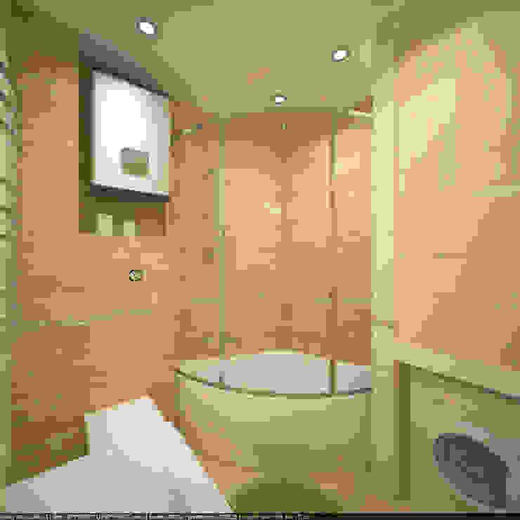 Квартира 70 кв.м. в ЖК <q>Оазис</q> Ванная комната в стиле минимализм от Студия дизайна Виктории Силаевой Минимализм