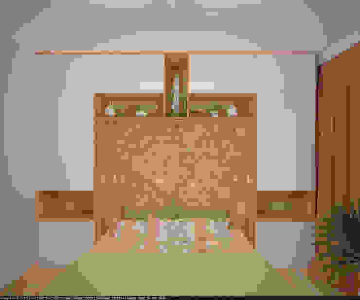 Квартира 70 кв.м. в ЖК <q>Оазис</q> Спальня в стиле минимализм от Студия дизайна Виктории Силаевой Минимализм