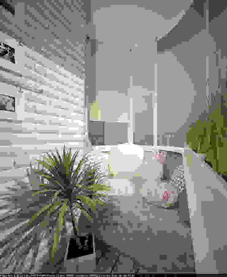 Квартира 70 кв.м. в ЖК <q>Оазис</q> Балкон и терраса в стиле минимализм от Студия дизайна Виктории Силаевой Минимализм