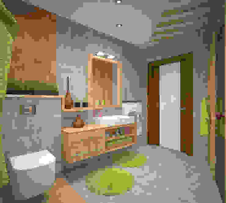 Сан. узел с сауной в экостиле Ванная комната в стиле минимализм от Студия дизайна Виктории Силаевой Минимализм