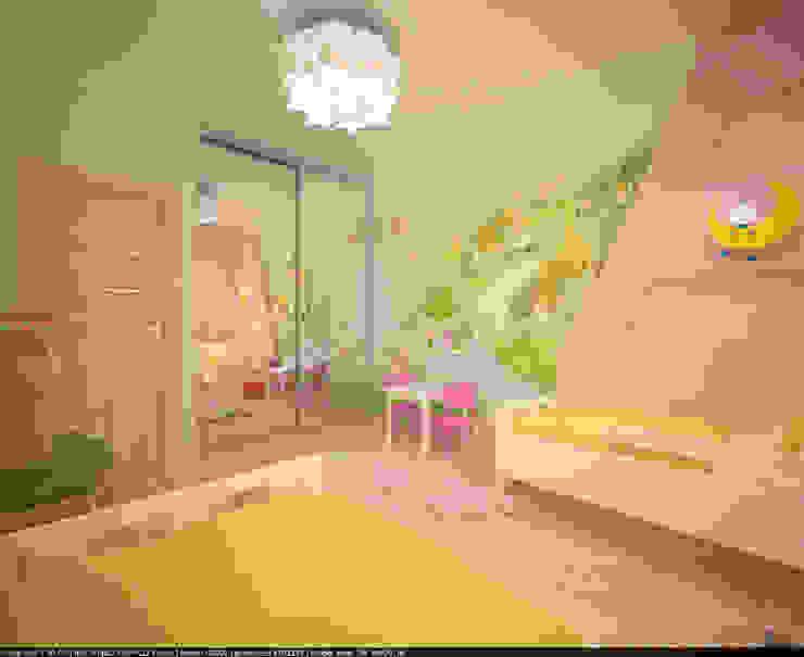 Квартира 70 кв.м. в ЖК <q>Оазис</q> Детская комнатa в стиле минимализм от Студия дизайна Виктории Силаевой Минимализм