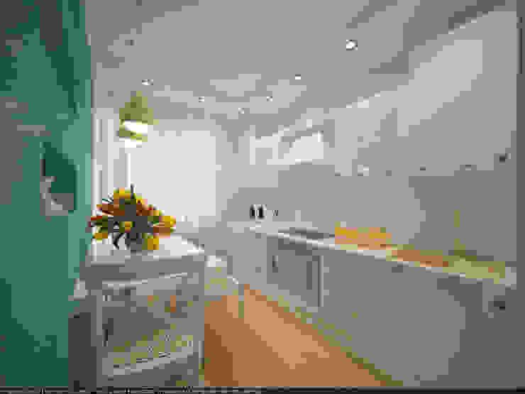 Квартира 45 кв.м. в Скандинавском стиле. Кухня в скандинавском стиле от Студия дизайна Виктории Силаевой Скандинавский