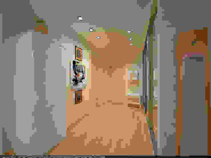 Квартира 45 кв.м. в Скандинавском стиле. Коридор, прихожая и лестница в скандинавском стиле от Студия дизайна Виктории Силаевой Скандинавский