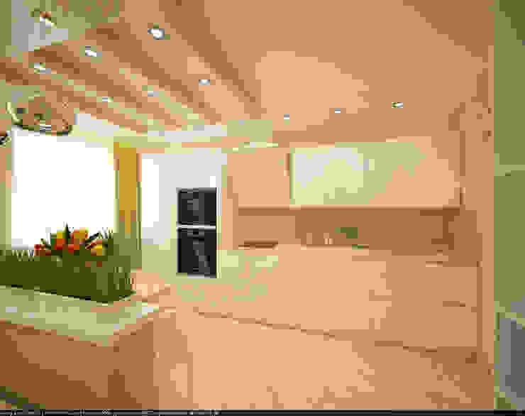 Квартира 70 кв.м. в ЖК <q>Оазис</q> Кухня в стиле минимализм от Студия дизайна Виктории Силаевой Минимализм