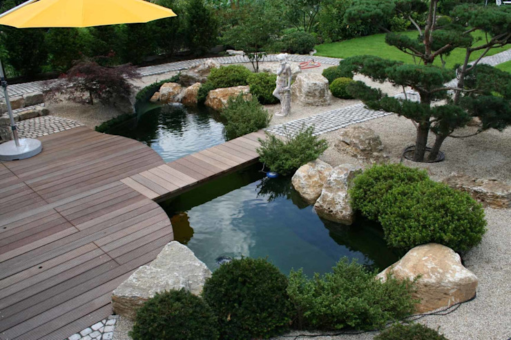 Piscine asiatique par V&S Teich, Garten und Design Asiatique