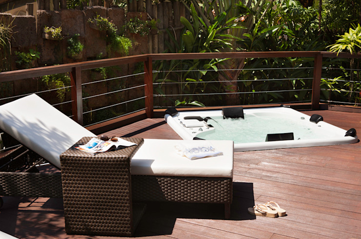 Iporanga - Guarujá Varandas, alpendres e terraços ecléticos por Infinity Spaces Eclético