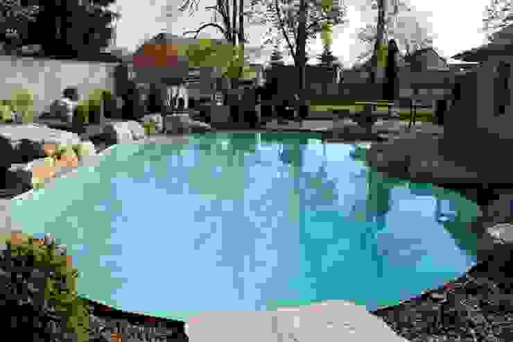 Swimming Pool Mediterrane Pools von V&S Teich, Garten und Design Mediterran