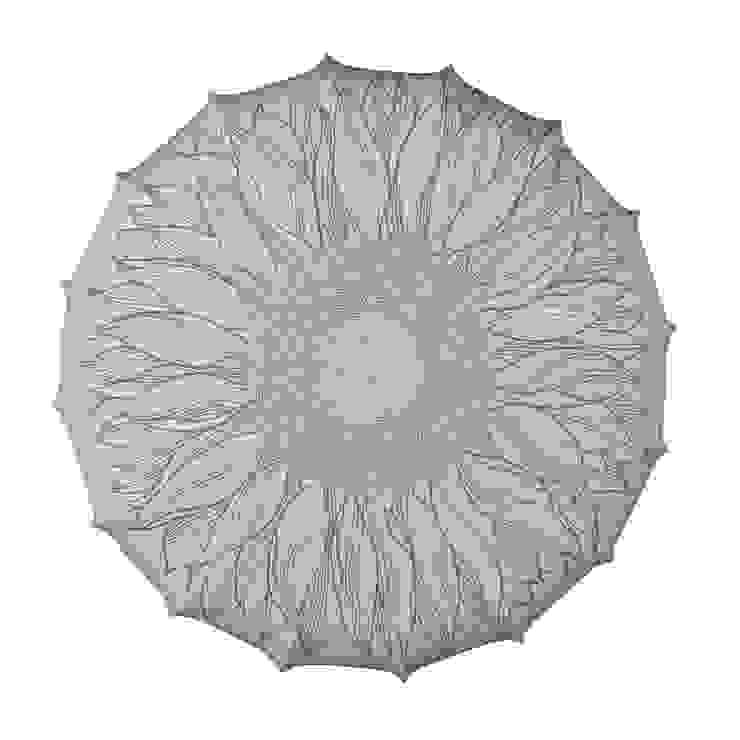 Plafon Sunflower (duży) od Lumiforma Minimalistyczny