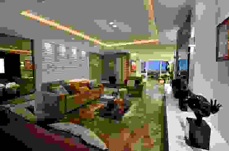 APTO MODERNO Salas de estar modernas por LizRibeiro Arquitetura Moderno