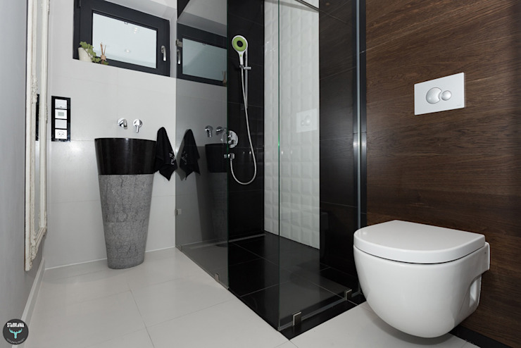 Łazienka gościnna Minimalistyczna łazienka od stabrawa.pl Minimalistyczny