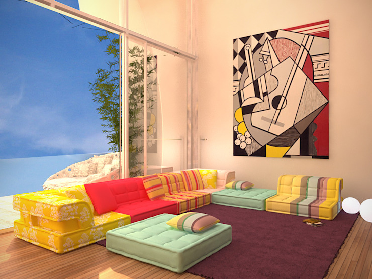Гостиная Гостиная в стиле минимализм от 16dots Минимализм