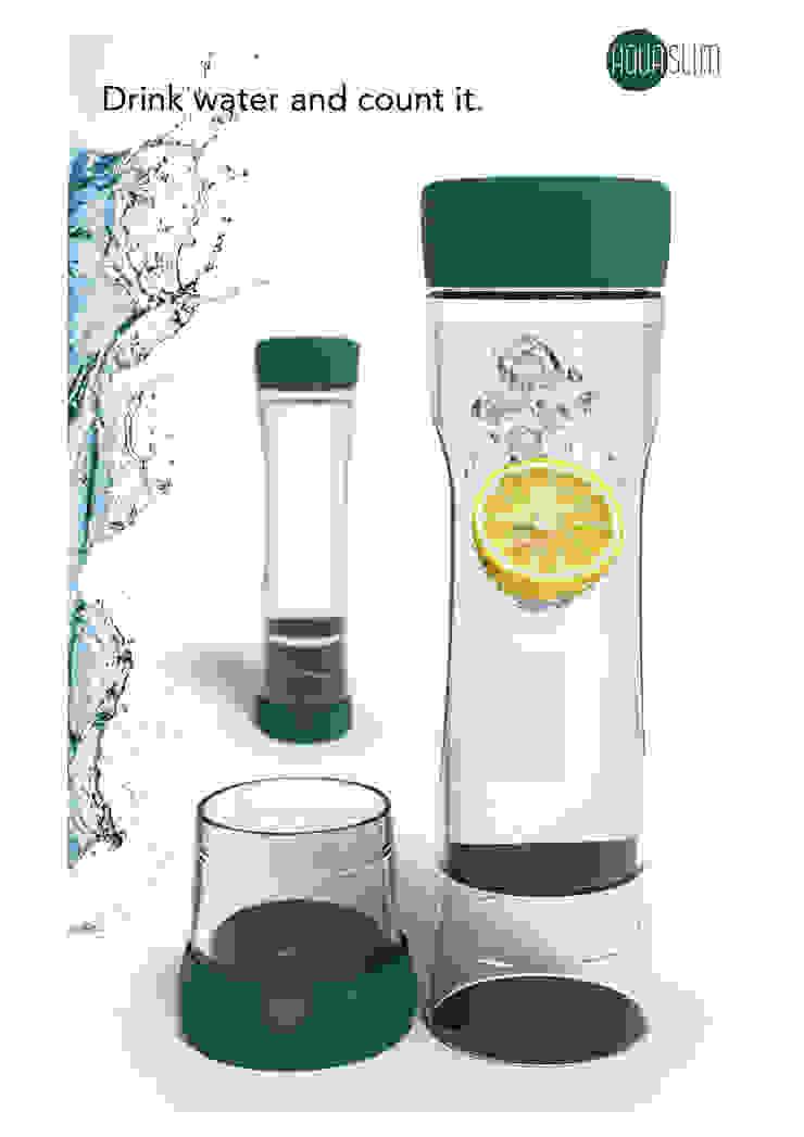 Aquaslim drinkfles: modern  door Boonen Design Studio, Modern