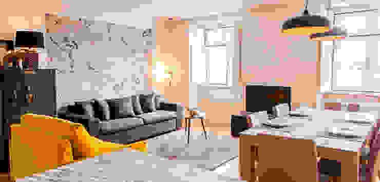living room Salas de estar ecléticas por Staging Factory Eclético