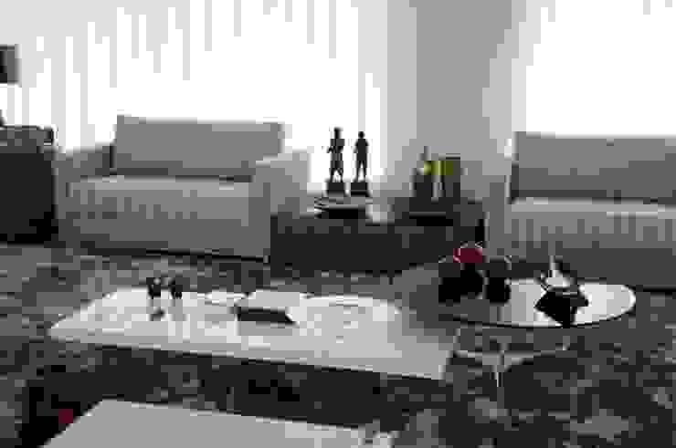 CASA SWISS PARK Salas de estar modernas por Renata Amado Arquitetura de Interiores Moderno