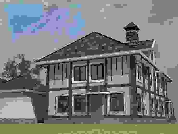 Фасад дома из клееного бруса от Лойе Ирина