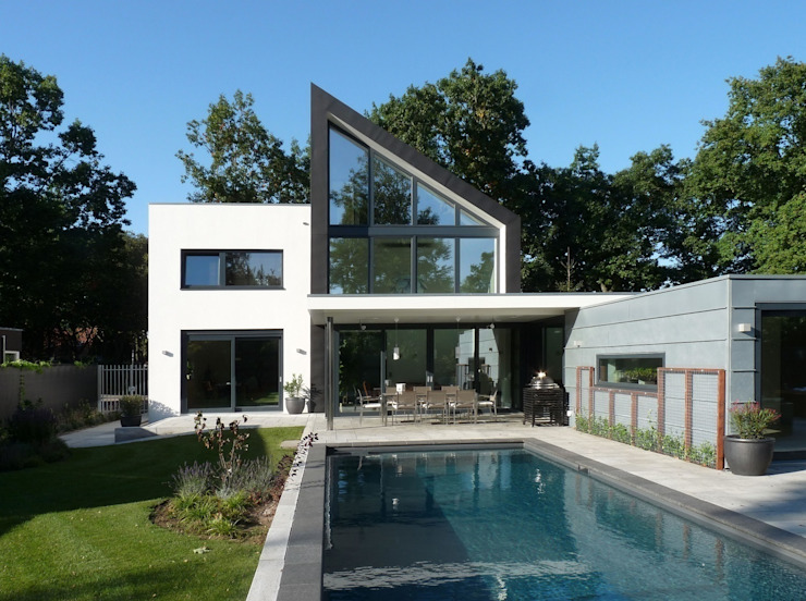 achtergevel Moderne huizen van Villa Delphia Modern