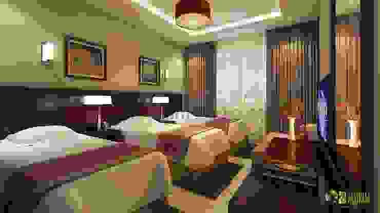 Kommerzielle 3D Hotels Bbedroom Interior Design Modern hotels by Architectural Design Studio Modern