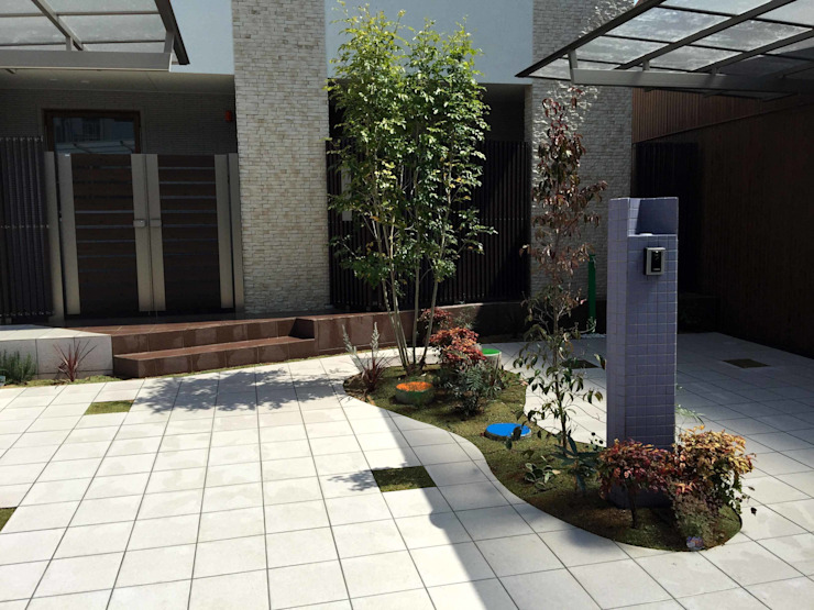 sotoDesign 株式会社竹本造園 Casas modernas