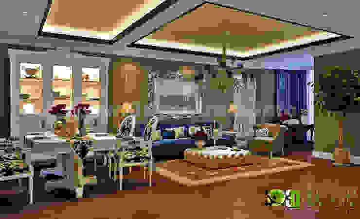 Wohn 3D Interior CGI Wohn-Esszimmer Modern offices & stores by Architectural Design Studio Modern