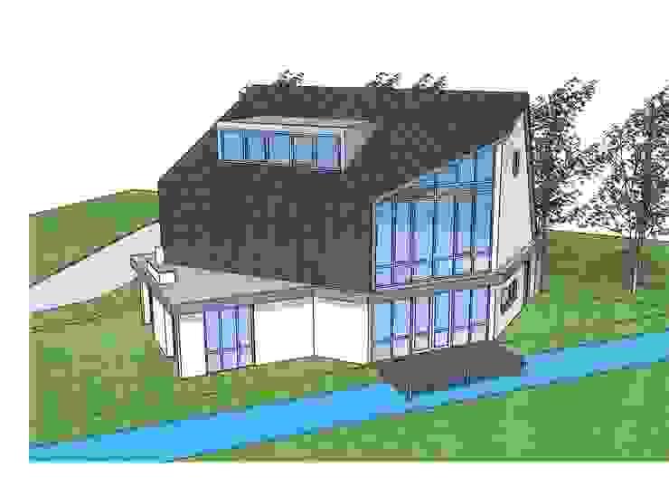 ontwerpschets zuidzijde Moderne huizen van Villa Delphia Modern