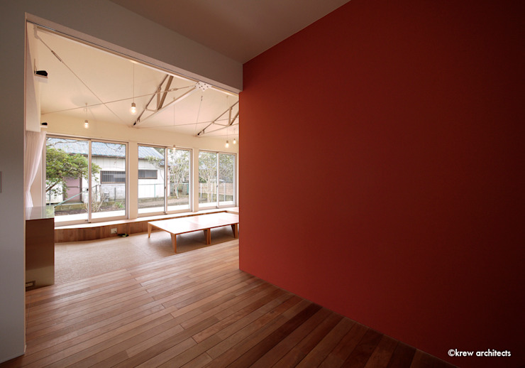 Modern walls & floors by krew Architects.inc Modern