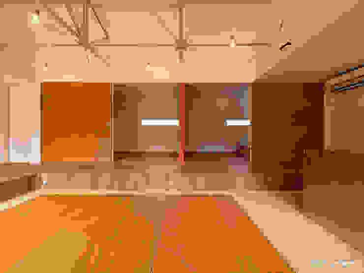 Modern living room by krew Architects.inc Modern