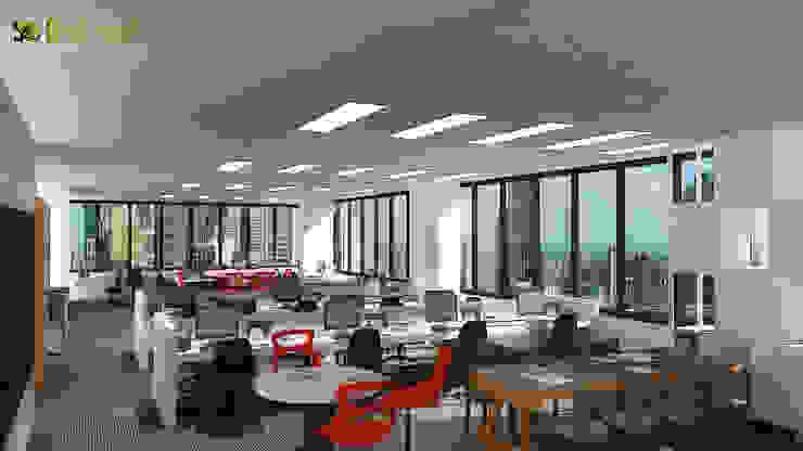 Commercial 3D Interior CGI Office: modern  by Yantram Architectural Design Studio, Modern