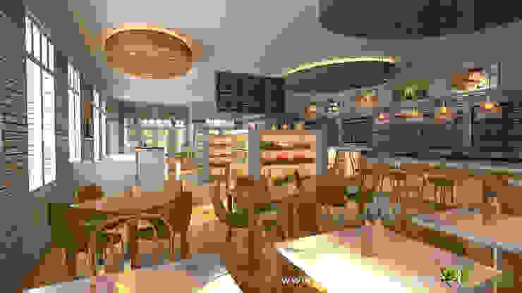 Commercial 3D Interior CGI Restaurant Bar: modern  by Yantram Architectural Design Studio, Modern