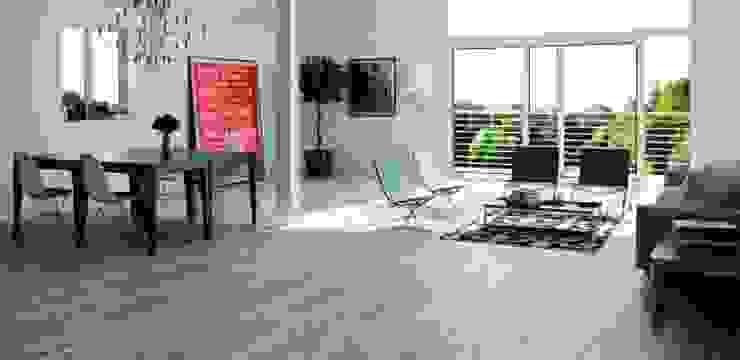 Wabi Gres imitación a madera Salones de estilo industrial de INTERAZULEJO Industrial