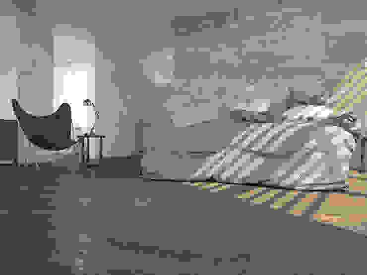 Brasilia Porcelánico imitación a madera Dormitorios de estilo industrial de INTERAZULEJO Industrial