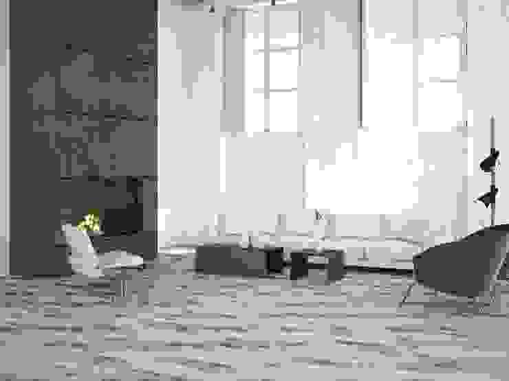 Soul Porcelánico imitación a madera Salones de estilo industrial de INTERAZULEJO Industrial