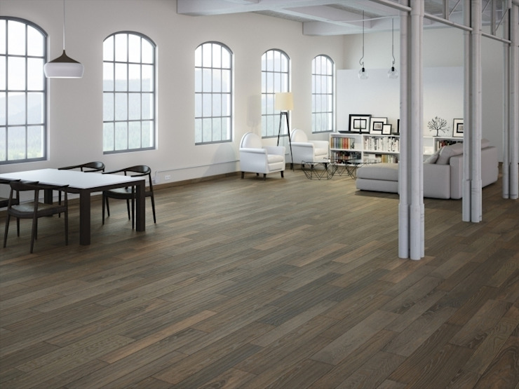 Champex Porcelánico imitación a madera Salones de estilo industrial de INTERAZULEJO Industrial