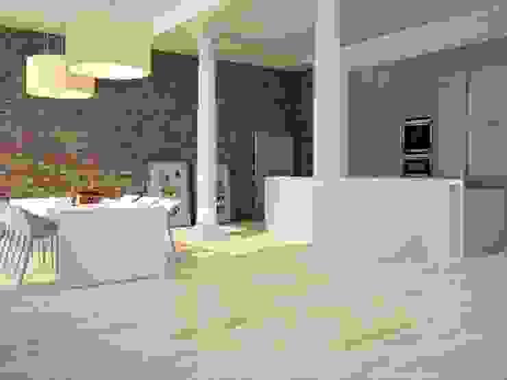 Ekos Porcelánico imitación a madera Salones de estilo moderno de INTERAZULEJO Moderno