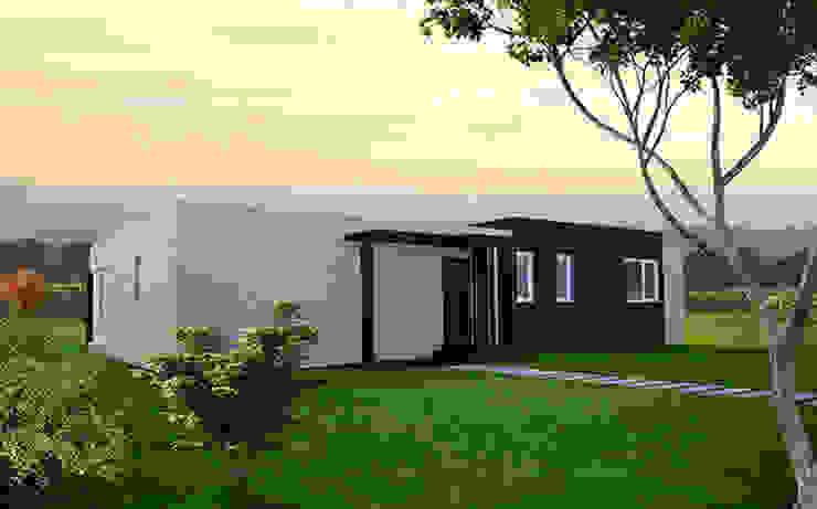 Fachada delantera de la Cube de 150 m2 Casas de estilo moderno de Casas Cube Moderno