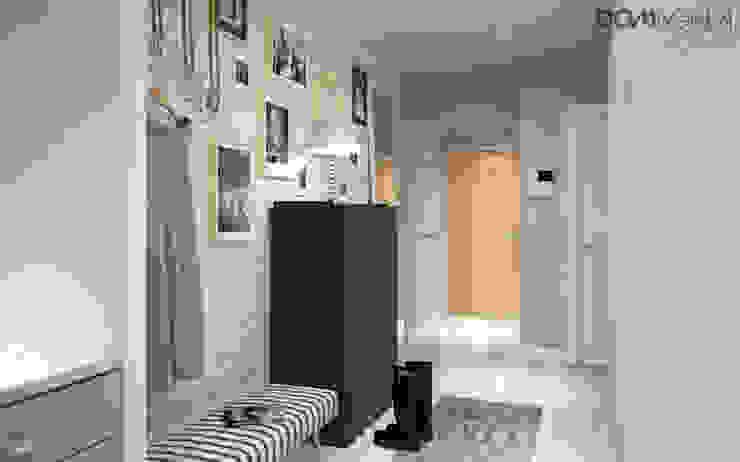 Pasillos, vestíbulos y escaleras de estilo escandinavo de DOMagała Design Escandinavo
